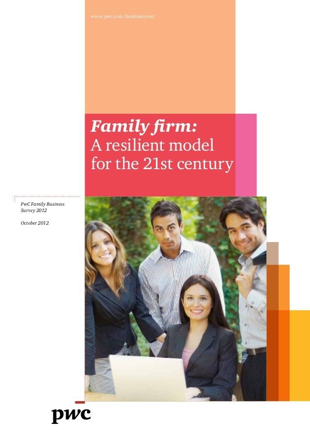 Etude PwC sur les entreprises familiales (2012)