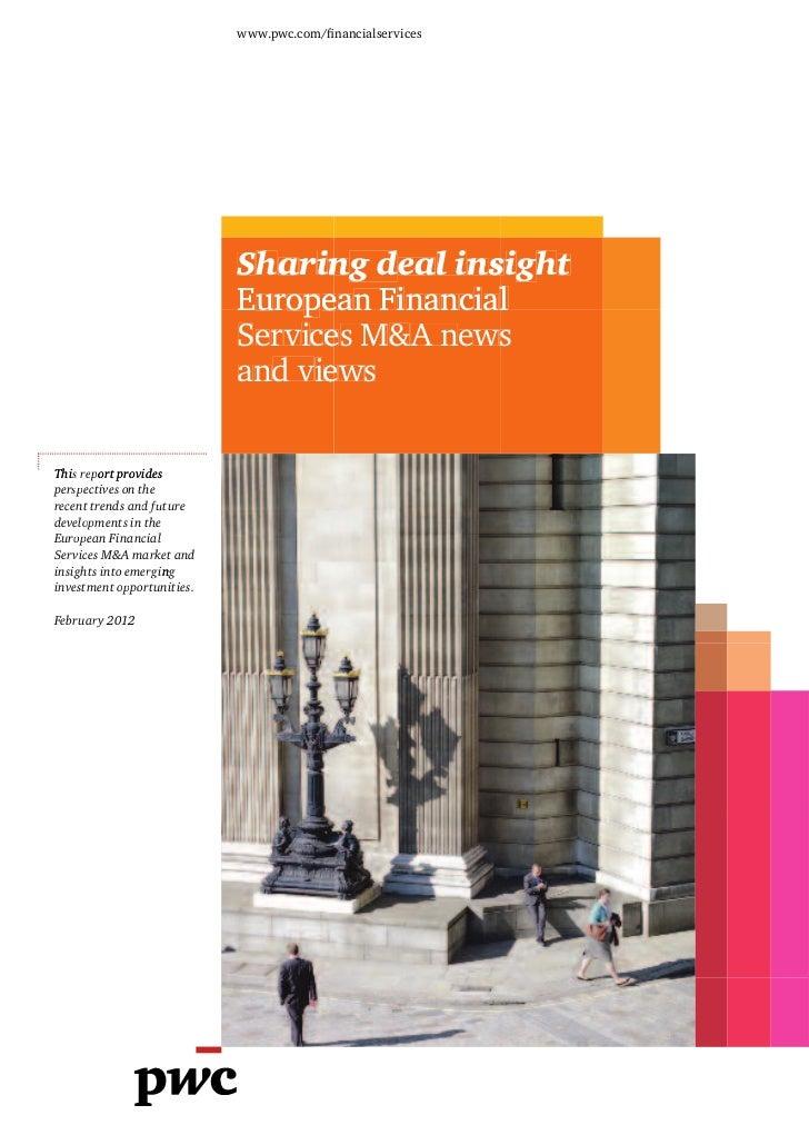 Fusions-acquisitions dans le secteur des services financiers (2011)