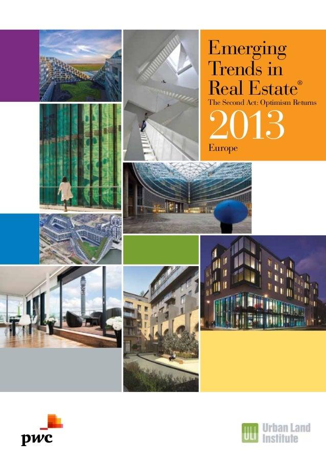 Etude PwC sur l'immobilier commercial européen (2012)
