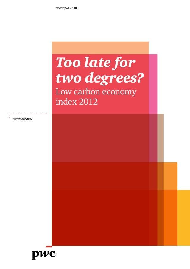 Etude PwC sur les émissions de carbone et le rechauffement climatique (2012)