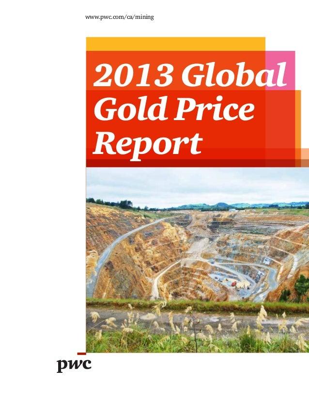 Etude PwC sur le marché de l'or (2013)