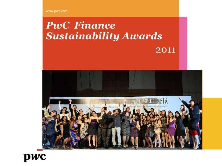 PwC  finance sustainability awards