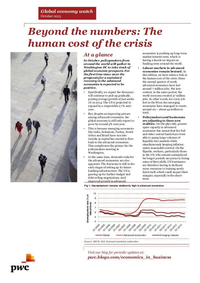 PwC Global Economy Watch (oct. 2013)
