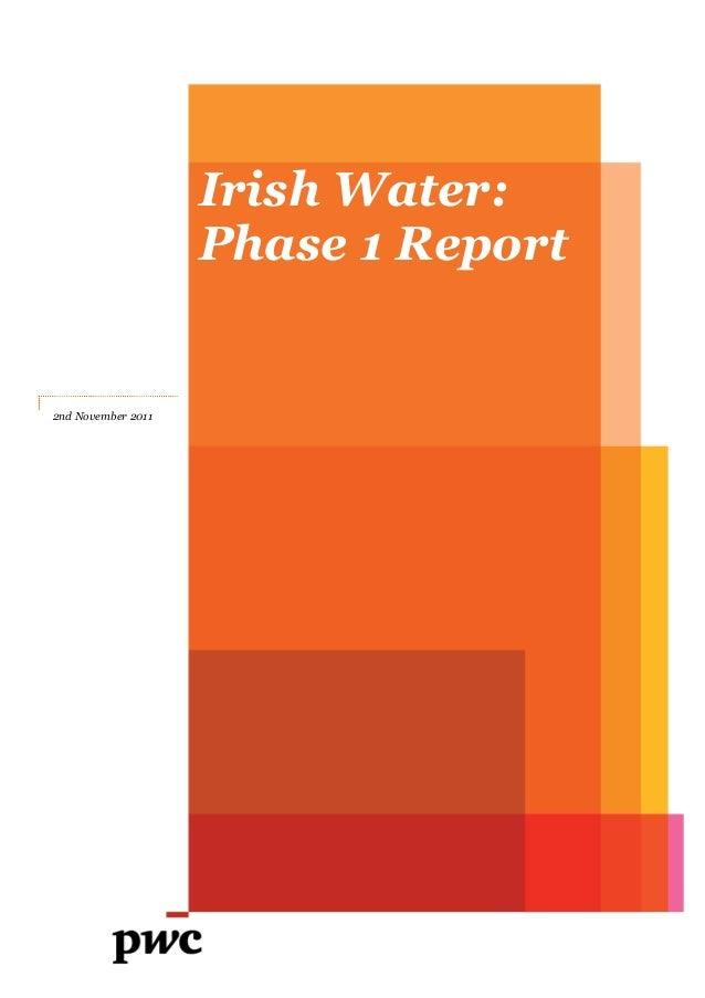 Irish Water: Phase 1 Report  2nd November 2011