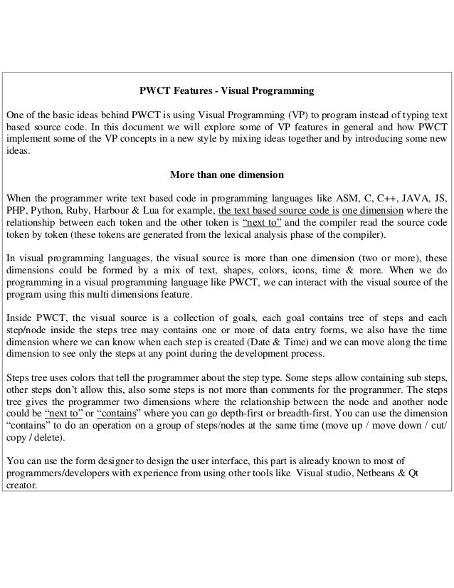 programming without coding technology pwct features