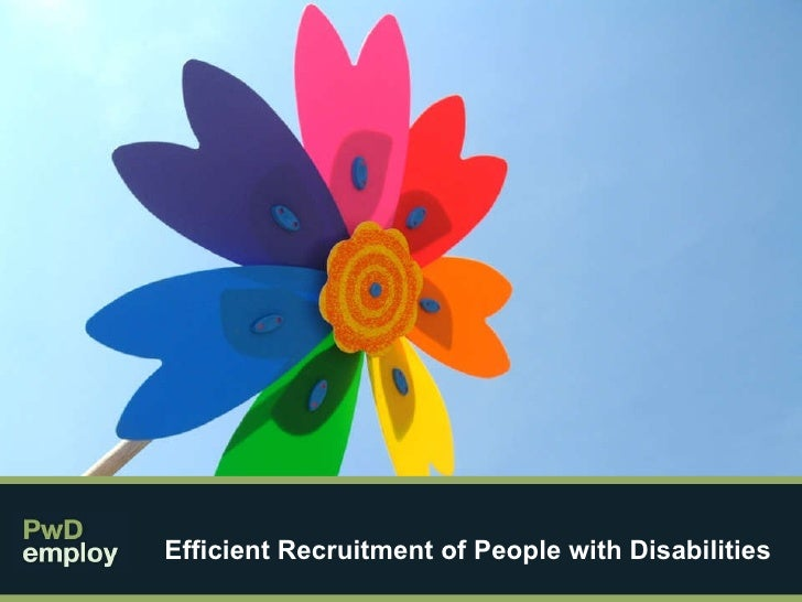 Efficient Recruitment of People with Disabilities