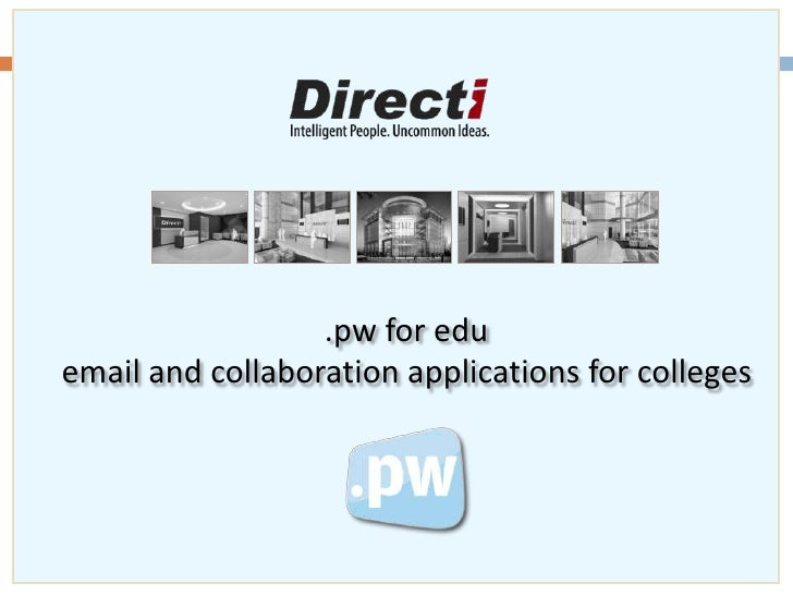 {pw for edu} - Email & Collaboration Applications for Education Institutions