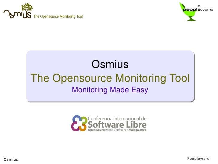 Osmius: Monitoring Made Easy