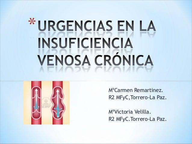 MºCarmen Remartinez. R2 MFyC,Torrero-La Paz. MºVictoria Velilla. R2 MFyC.Torrero-La Paz.