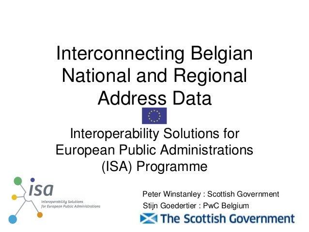 "Interconnecting Belgian national and regional address data using EC ISA ""Location"" Core Vocabulary"