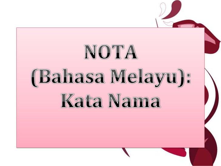 Nota Kata Nama