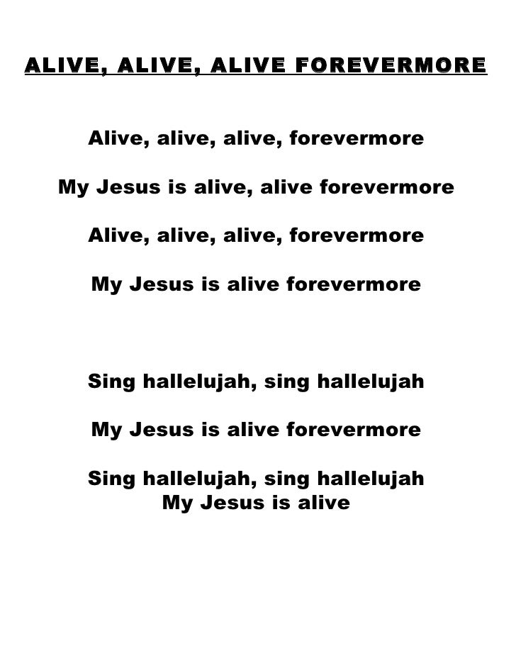 Hallelujah jesus is alive lyrics Images
