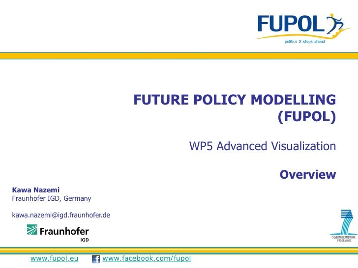 FUTURE POLICY MODELLING                                                 (FUPOL)                                           ...