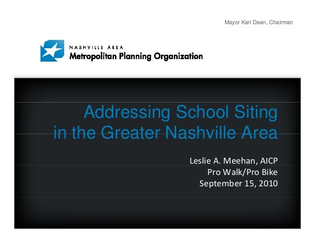 Session 38 - Addressing School Siting in the Greater Nashville Region