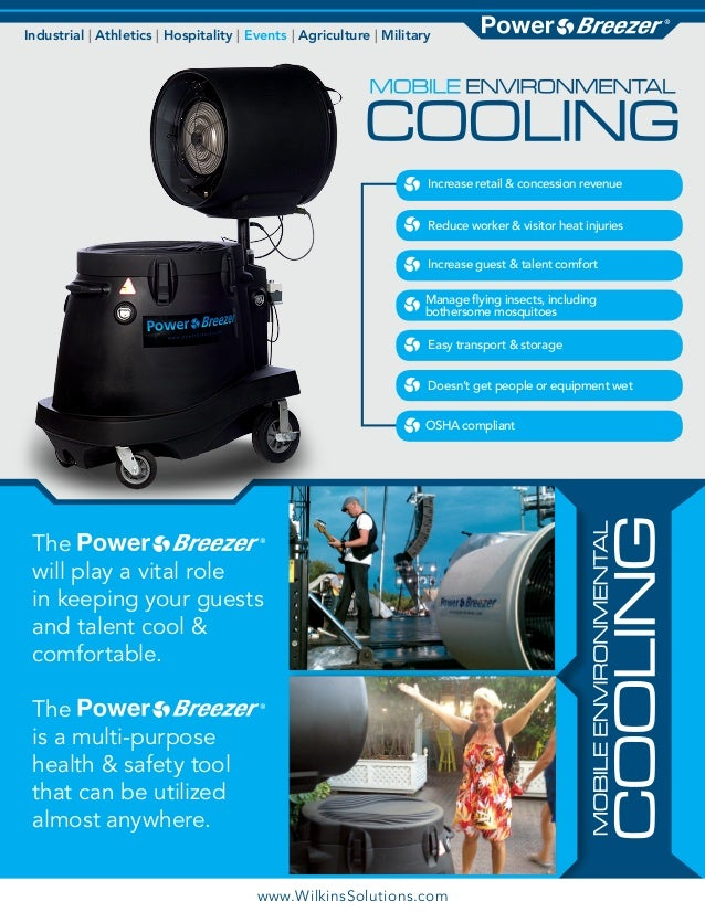 Power Breezer for Events & Water Parks