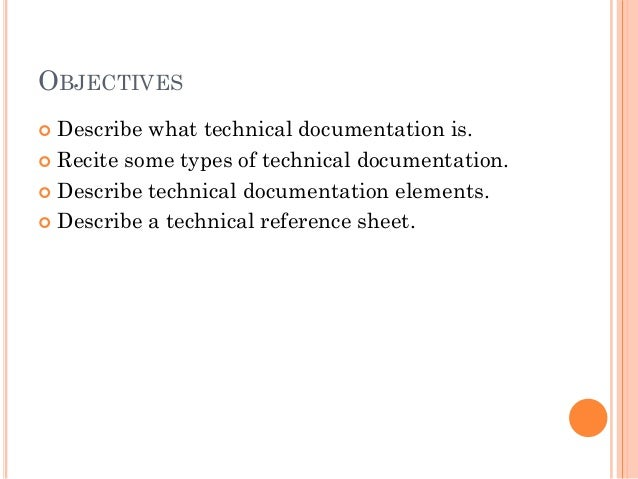 Writing technical documents