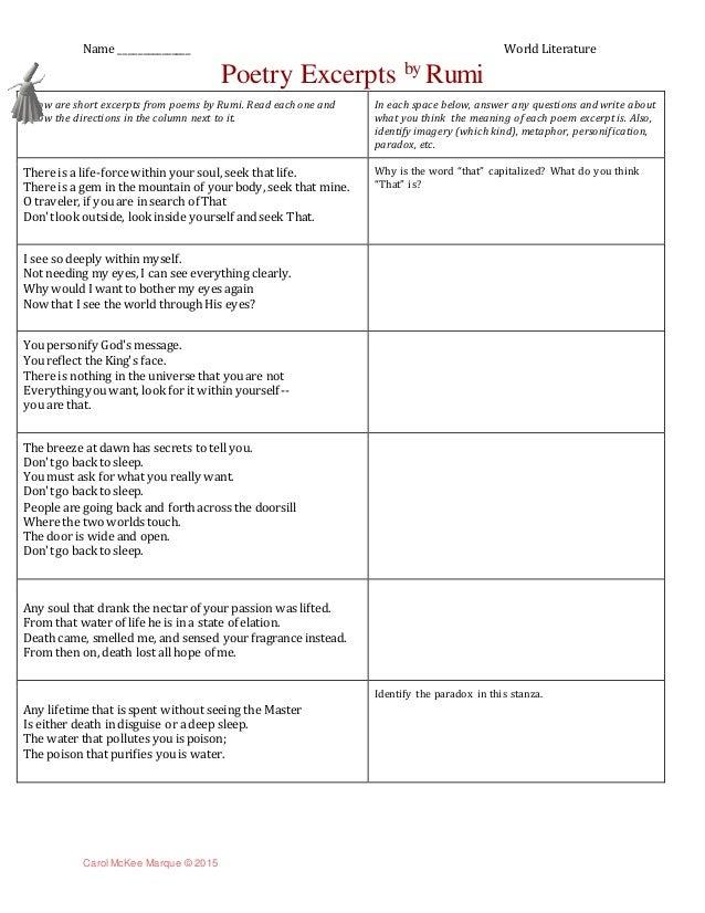 Analyzing poem