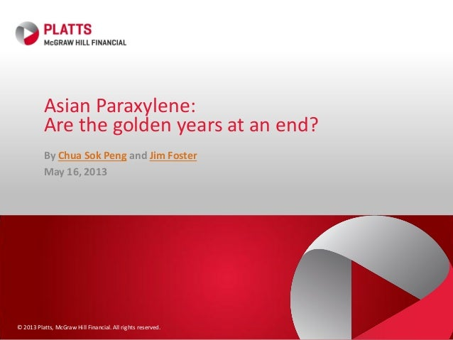 © 2013 Platts, McGraw Hill Financial. All rights reserved.Asian Paraxylene:Are the golden years at an end?By Chua Sok Peng...