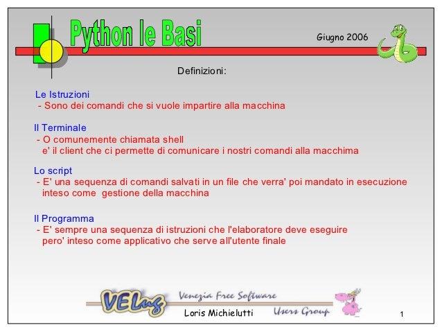 Giugno 2006                                 Definizioni:Le Istruzioni - Sono dei comandi che si vuole impartire alla macch...