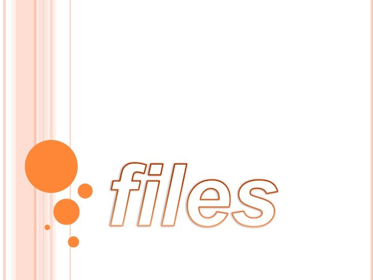 files<br />