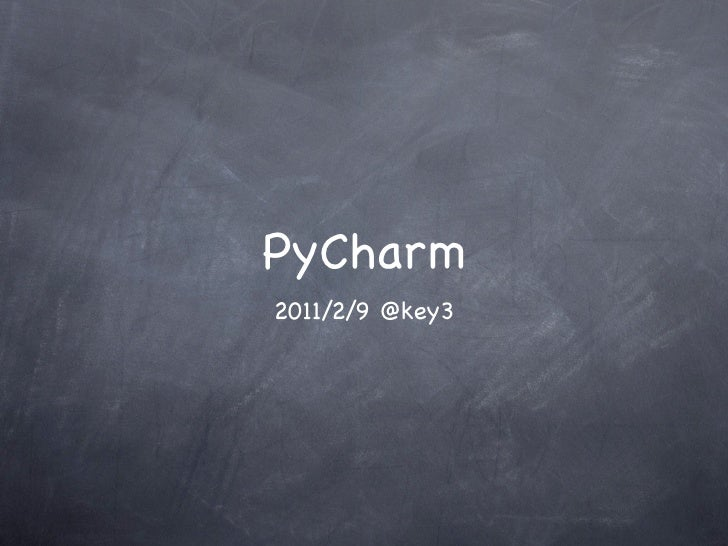About PyCharm