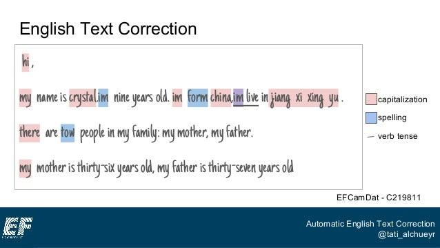 Online english text correction