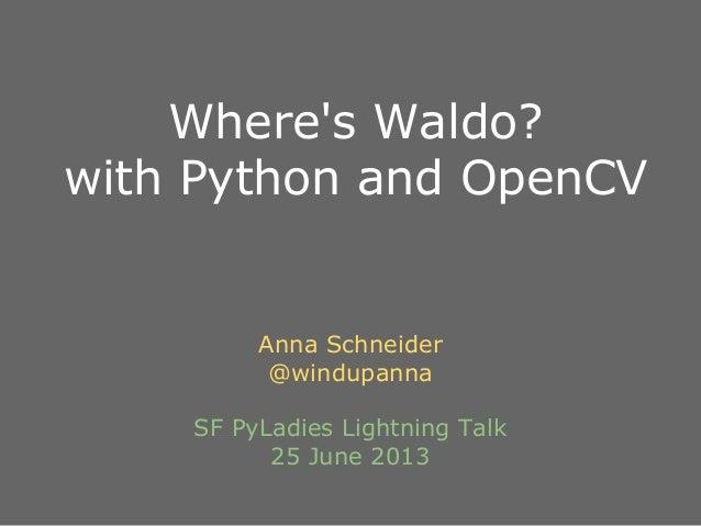 Where's Waldo? with Python and OpenCV