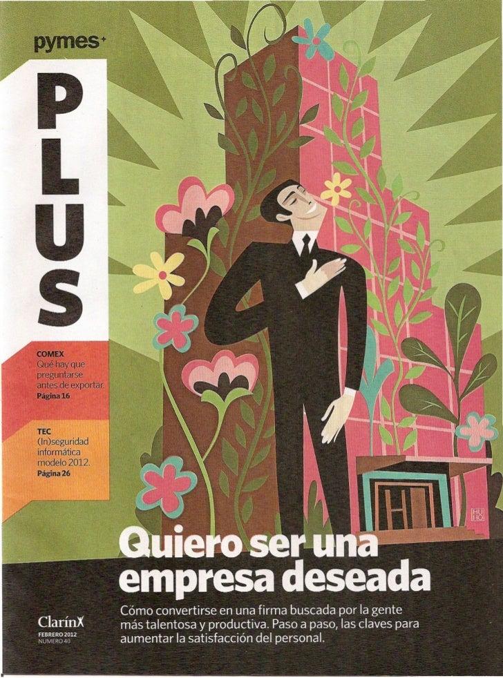 """""""Quiero ser una empresa deseada"""" Pymes Plus Feb.2012"""