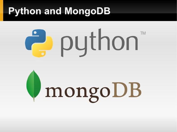 Python and MongoDB