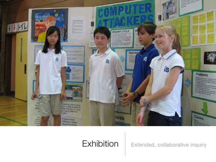Exhibition   Extended, collaborative inquiry