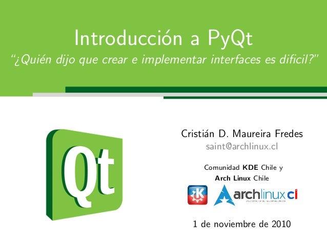 Introducción a PyQt