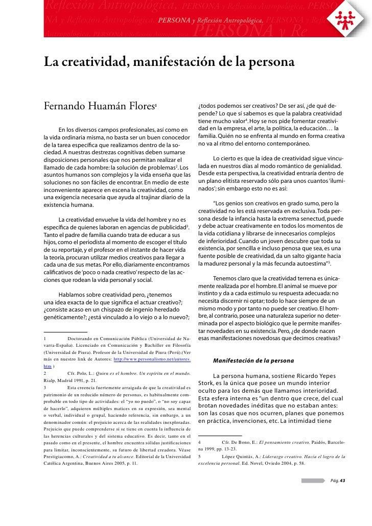 Reflexión Antropológica, PERSONA y Reflexión Antropológica, PERSO-NA y Reflexión Antropológica, PERSONA y Reflexión Antropológ...