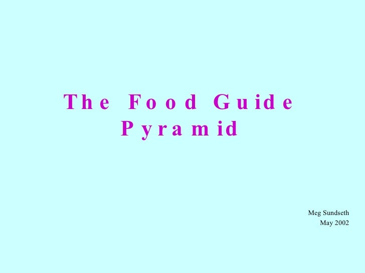 The Food Guide Pyramid Meg Sundseth May 2002