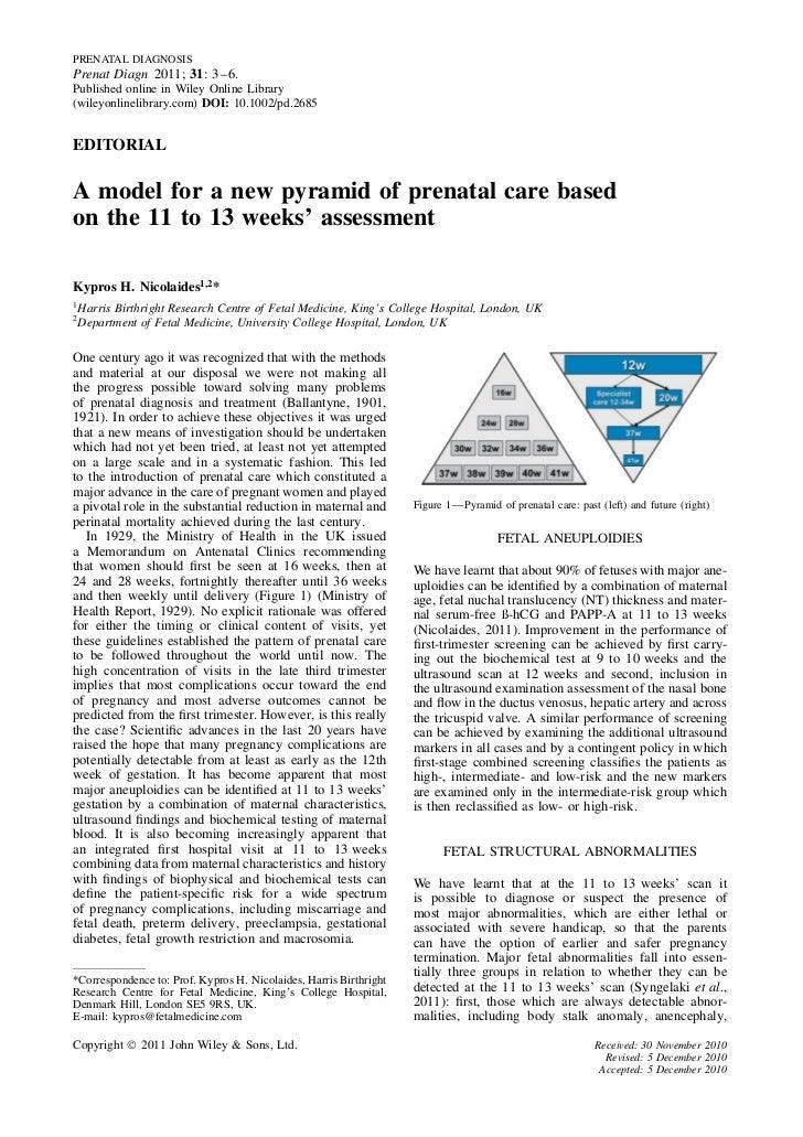 PRENATAL DIAGNOSISPrenat Diagn 2011; 31: 3–6.Published online in Wiley Online Library(wileyonlinelibrary.com) DOI: 10.1002...