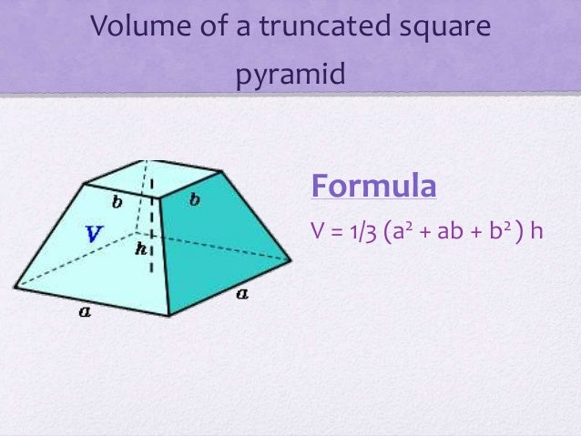 Pyramid volume formula