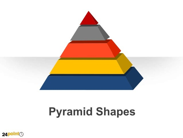 Editable PPT Slides - Pyramid Shapes