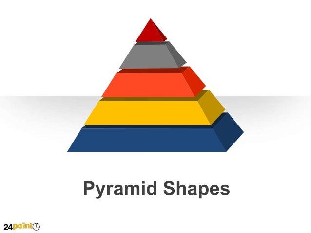 Editable PPT Slides - Pyramid Shapes