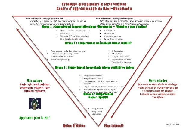 Pyramide disciplinaire 2014 2015 au CAHM