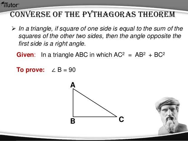 converse of pythagorean theorem ppt – Converse of Pythagorean Theorem Worksheet