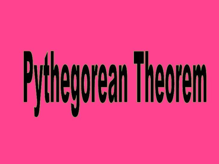 Pythegorean Theorem