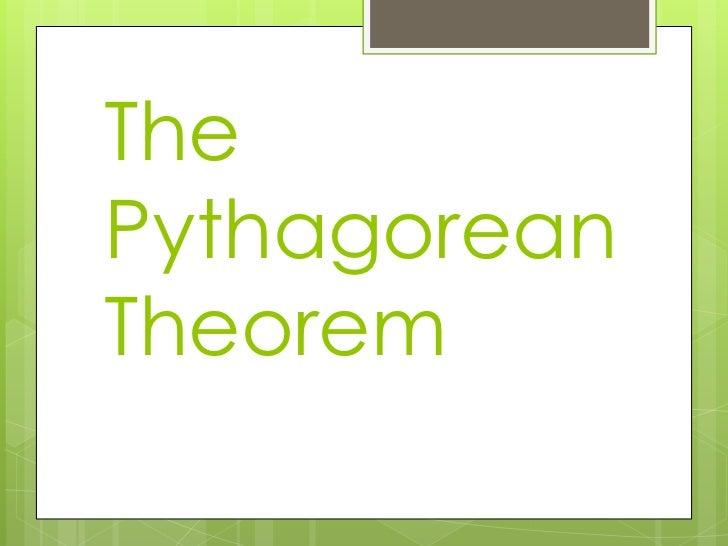 ThePythagoreanTheorem