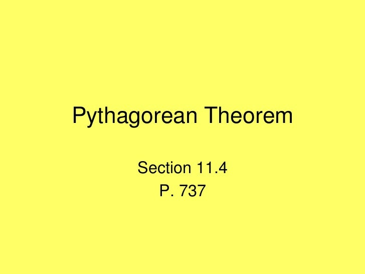 Pythagorean theorem 11.4