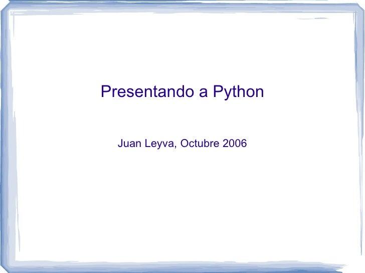 Presentando a Python