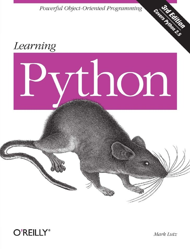 O Reilly Learning Python 3rd Edition