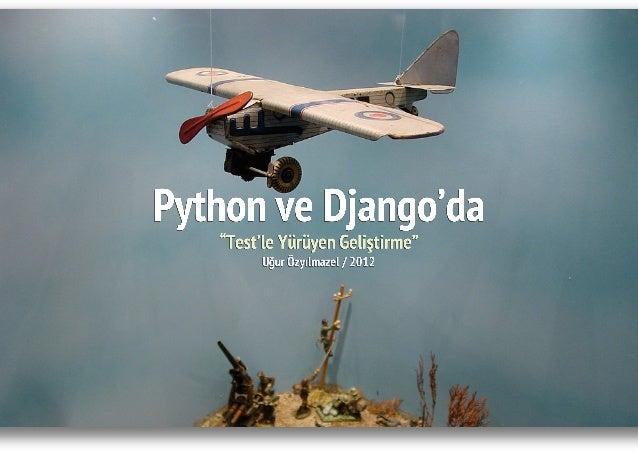 Python ve Django'da Test'le Yürüyen Geliştirme