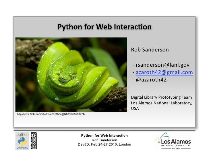 Python Web Interaction