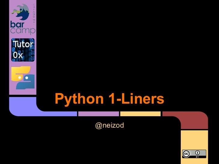 Python 1 liners