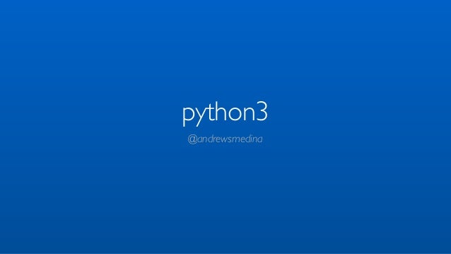 Python 3 - tutorial