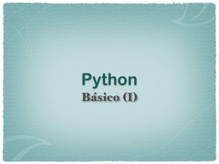 Python básico I