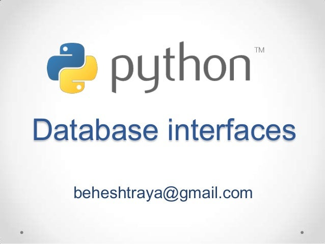 Python database  interfaces